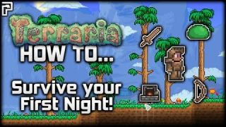 Terraria Tutorial/Guide (1.3) | How To... Survive Your First Night!